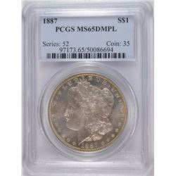 1887 MORGAN DOLLAR PCGS MS65 DMPL