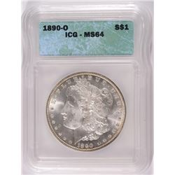 1890-O MORGAN DOLLAR ICG MS-64