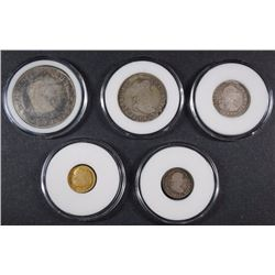 ( 5 ) COIN SPANISH REALE SET: