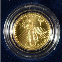 1991 1/10 OZ GOLD EAGLE GEM BU BOX/COA SCARCE DATE