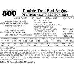 Double Tree Red Angus