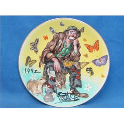 Autographed Collector Plate _ Spring _ Signed by Emmett Kelly, Jr. in 1992 _ With Box