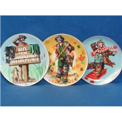 "3 Collector Plates _ Emmett Kelly Jr. Circus Collection _ Summer, Autumn & Winter _ 8"" in diameter"