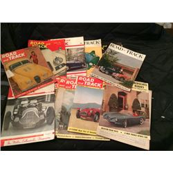 13 Road & Track Mags, early 1950's some loose covers, torn pages