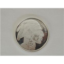 1 Troy oz .999 Fine Silver Round Native American