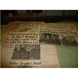 3 Kennedy Newspapers- 1961 and 1963
