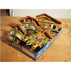 German cuckoo clocks colorful lot of 4 - Colorful cuckoo clock ...