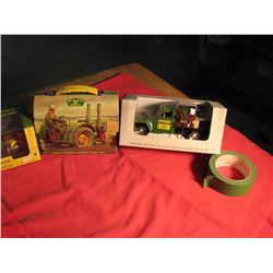 1941 John Deere pickup, John Deere lunch kit and Willy's service truck
