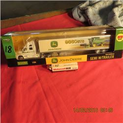 1/64 John Deere semi/parts truck w/ 9860 combine photo