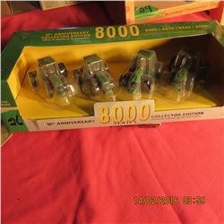 John Deere 8000 series set of 4 tractors
