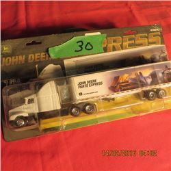 1/64 John Deere Parts Express Semi truck