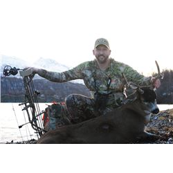 Sitka Blacktail Deer hunt on Kodiak Island in Alaska for One (1) Hunter