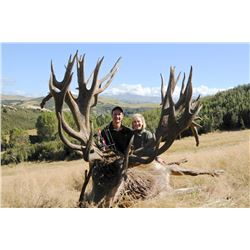 5-Day Red Stag Hunt for Two (2) Hunters in Kaikoura, New Zealand