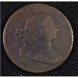 1801 DRAPED BUST LARGE CENT 1/000 F/VF