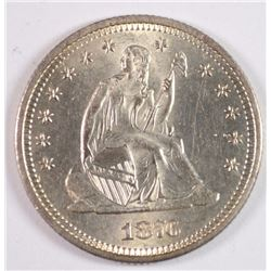 1876-S SEATED LIBERTY QUARTER CH BU