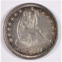 1877-S SEATED LIBERTY QUARTER AU/BU