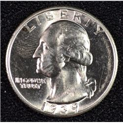 1939-S WASHINTON QUARTER SUPERB GEM BU