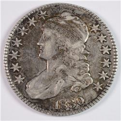 1830 BUST HALF DOLLAR XF/AU NICELY TONED