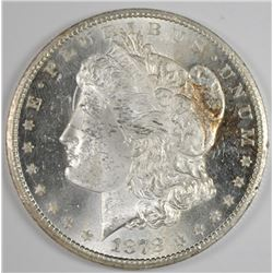 1878-CC MORGAN SILVER DOLLAR, CHOICE BU - BLAST WHITE!