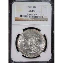 1902 MORGAN SILVER DOLLAR NGC MS65