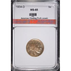 1934-D BUFFALO NICKEL AGP GEM BU