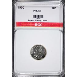 1950 ROOSEVELT DIME BGC GEM PROOF