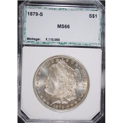 1879-S MORGAN SILVER DOLLAR, PCI SUPERB GEM BU