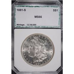 1881-S MORGAN SILVER DOLLAR, PCI SUPERB GEM  BLAST WHITE