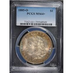 1885-O MORGAN SILVER DOLLAR, PCGS MS-64+