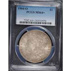1904-O MORGAN SILVER DOLLAR, PCGS MS-64+