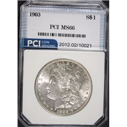 1903 MORGAN SILVER DOLLAR PCI SUPERB BU WHITE