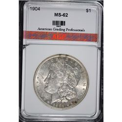 1904 MORGAN SILVER DOLLAR AGP CHOICE BU