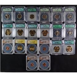 20 COIN CERTIFIED LOT: ANACS: 2- 2010-S PR70 DCAM NATIVE DOLLAR: 2009 P & D