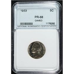 1953 JEFFERSON NICKEL SUPERB PROOF NNC GRADED