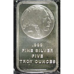 FIVE TROY OUNCE .999 SILVER BAR  GREAT SIZE FOR A GIFT