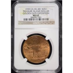 1939 GOLDEN GATE EXPO SO CALLED DOLLAR,CA HK-481  NGC MS-61