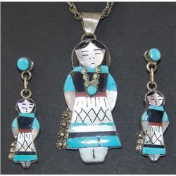 Zuni Inlay Necklace Set - Joyce Wasita