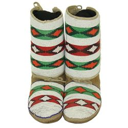 Crow Beaded Child's Moccasins