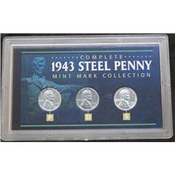 1943 USA Complete Steel Penny Mint Mark Collection