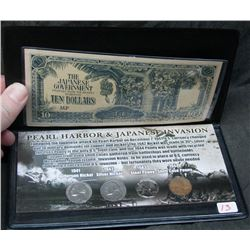 Pearl Harbour & Japanese Invasion Coin & Note Collection