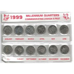 1999 Canada Millennium Quarter Coin Collection