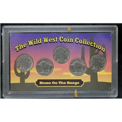 The Wild West USA 5-Cent Nickel Coin Collection - 5 Coins