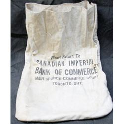 Original Vintage Cloth Canadian Imperial Bank of Commerce (CIBC) Coin Bag
