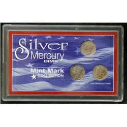 USA - Silver Mercury Dime Mint Mark Collection
