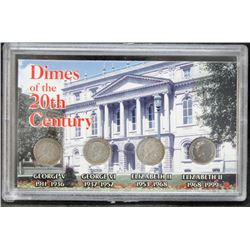 Canada - Dimes Of The 20th Century - 3 Silver, 1 Copper-Nickel