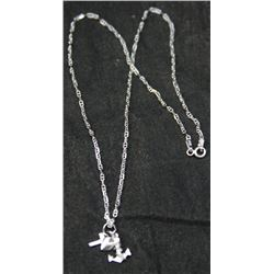 "Sterling Silver Faith, Hope & Charity Pendant On 16"" Cable Chain"