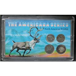 The Americana Series - North American Wildlife - 4 Coin Collection