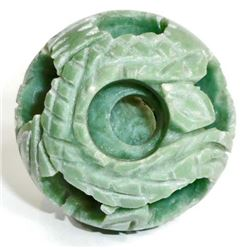 RARE HAND CARVED JADE BALL