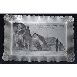 VINTAGE PASADENA CALIFORNIA CONGREGATIONAL CHURCH ADVERTISING PIN TRAY