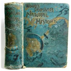 "ANTIQUE ""WOOD'S POPULAR NATURAL HISTORY"" HARDCOVER BOOK"